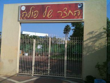 החצר של פולה במרכז קהילתי בן גוריון